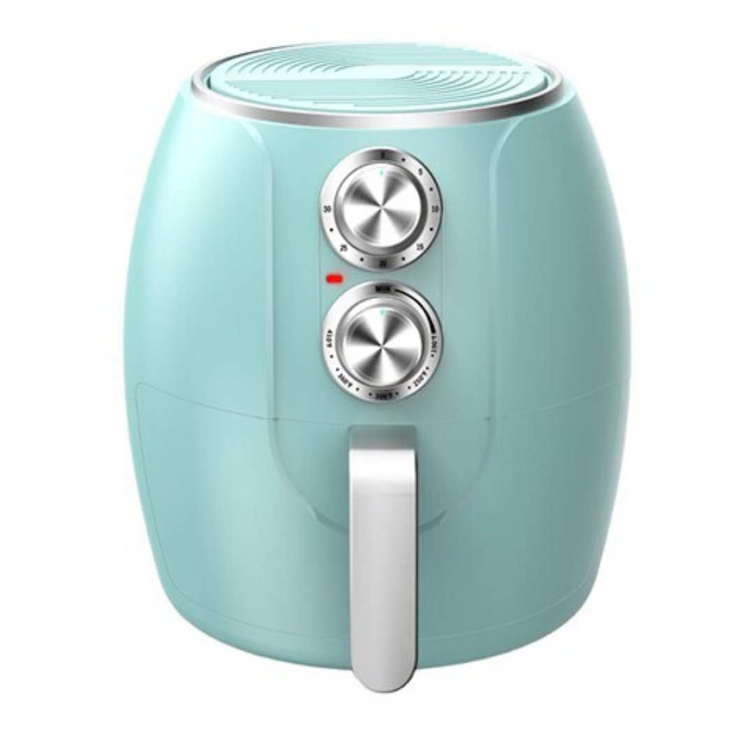 Mint green air fryer from The Source