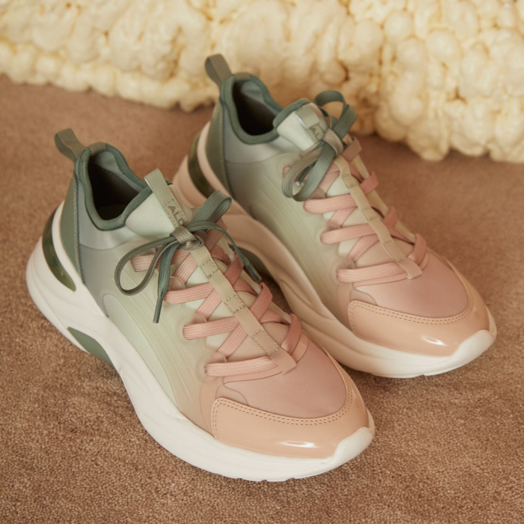 Aldo Sneakers in mint green and light pink
