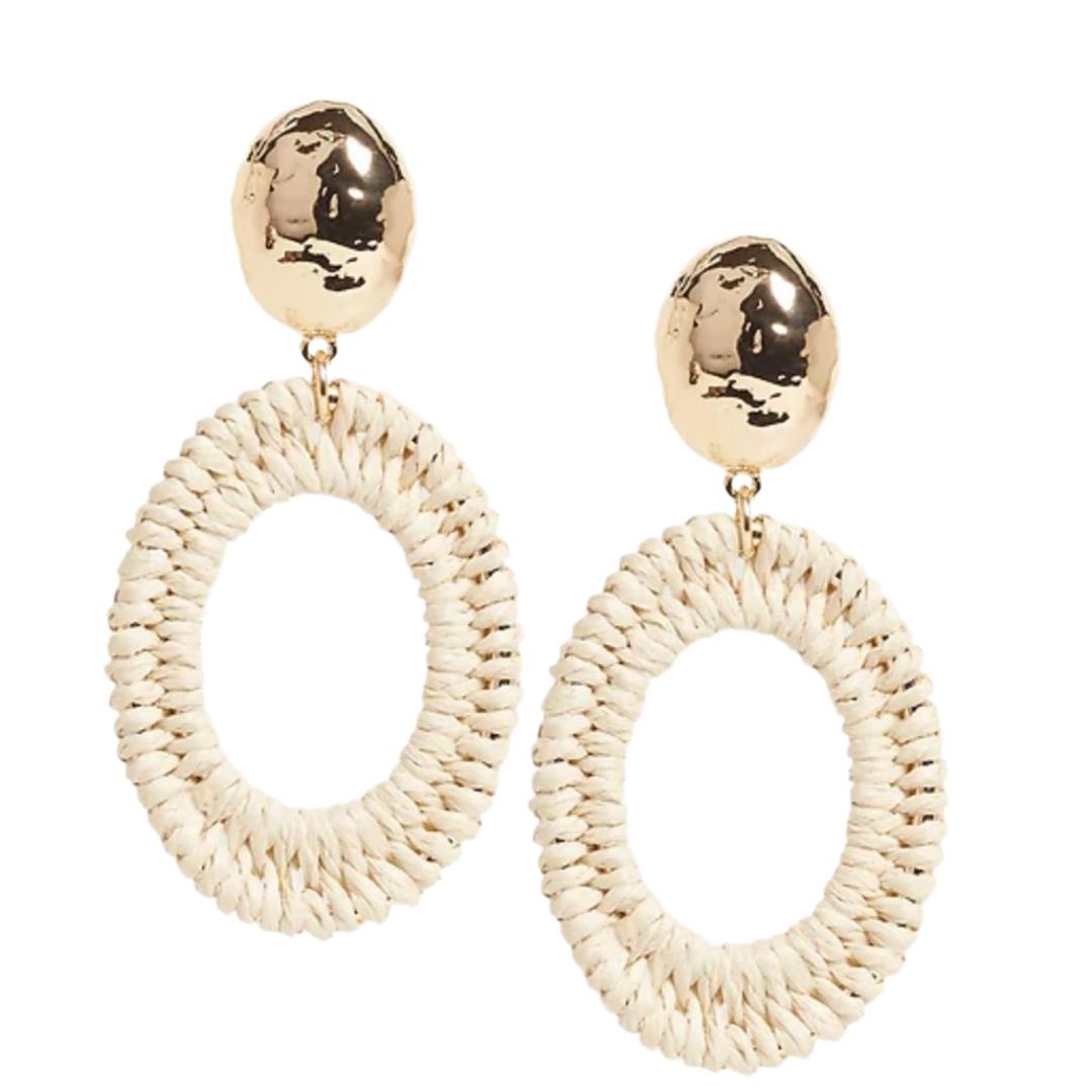 Banana Republic Oval Hoop Earrings