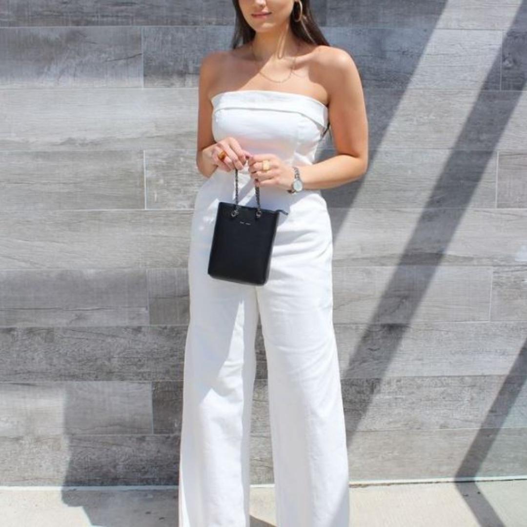 Clothz Strapless White Jumpsuit