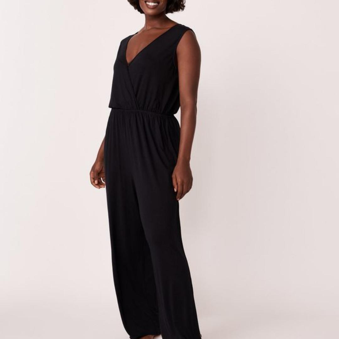 V-neck black jumpsuit sleeveless from La Vie En Rose