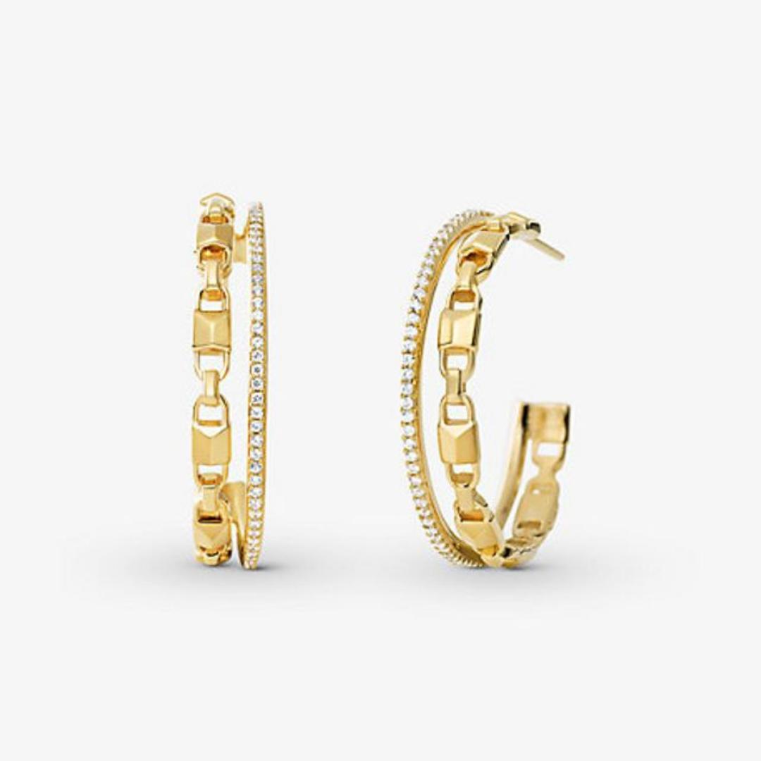 Gold Hoop Earrings from Michael Kors