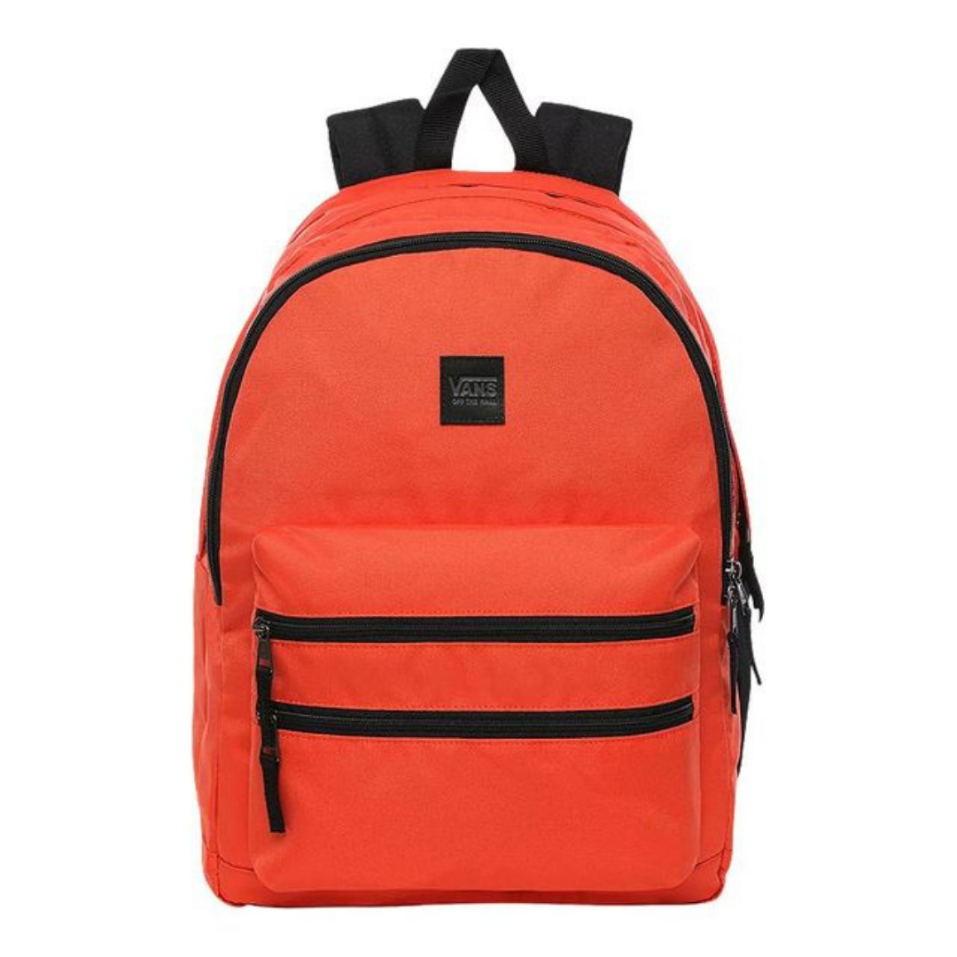 Vans Backpack from Sport Chek in Coral and outlined in black stitching