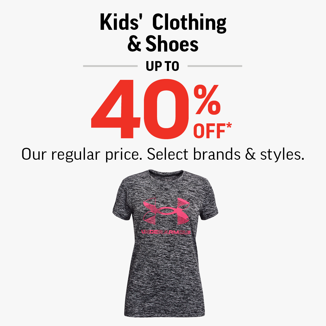 grey underarmour kids tshirt
