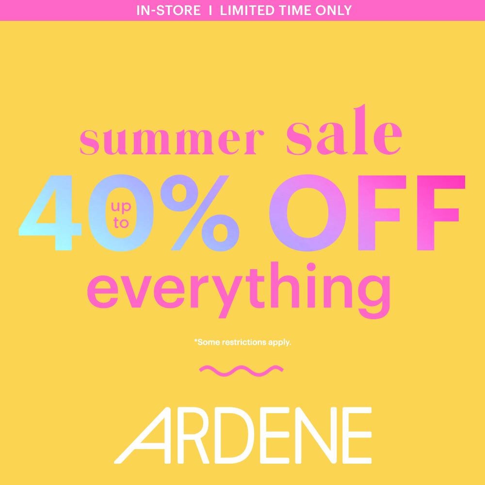 Ardene summer sale 40% off everything