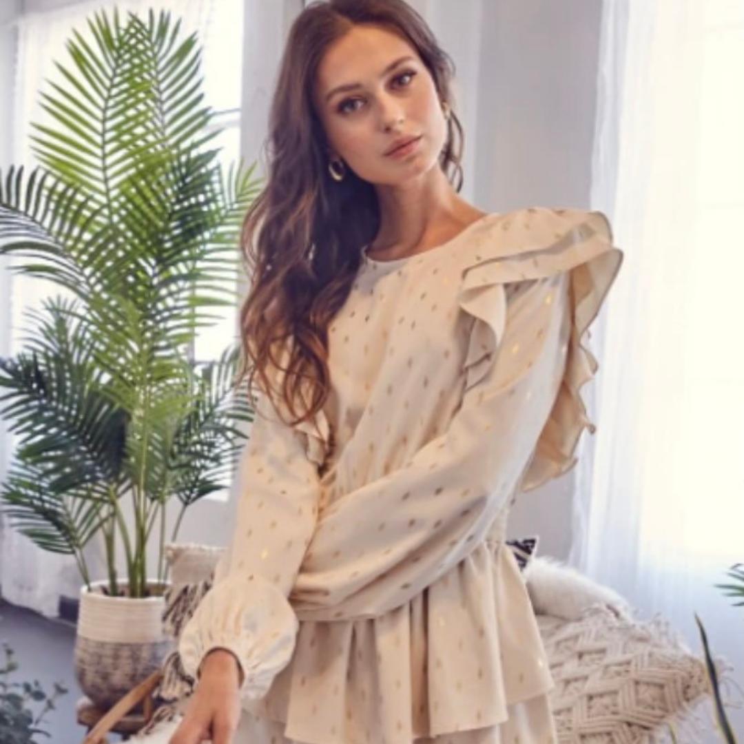 Ruffled long sleeve dress from Honey