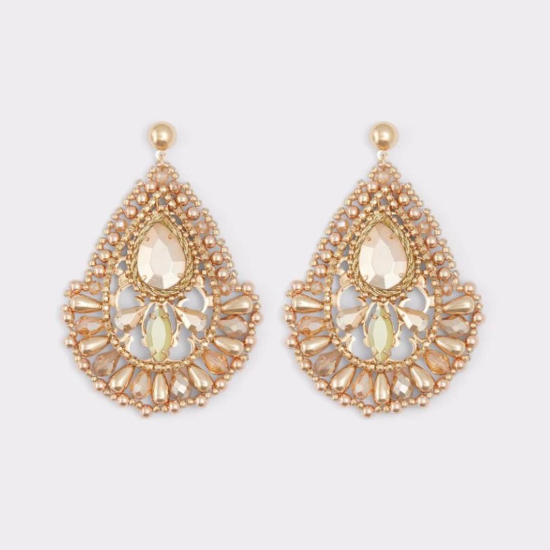 Golden chandelier earrings from Aldo