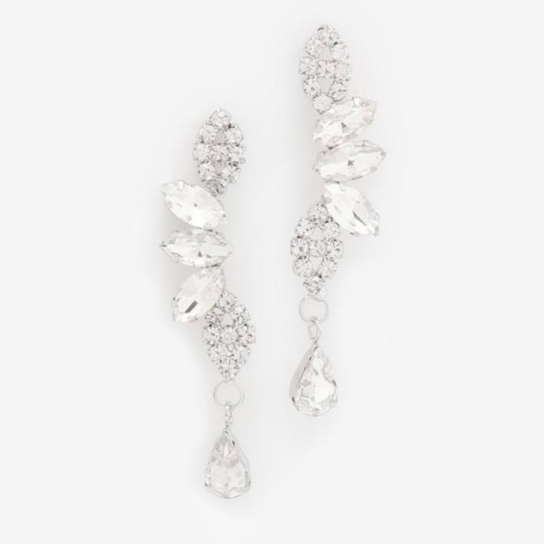 Crystal dangler earrings from Ardene