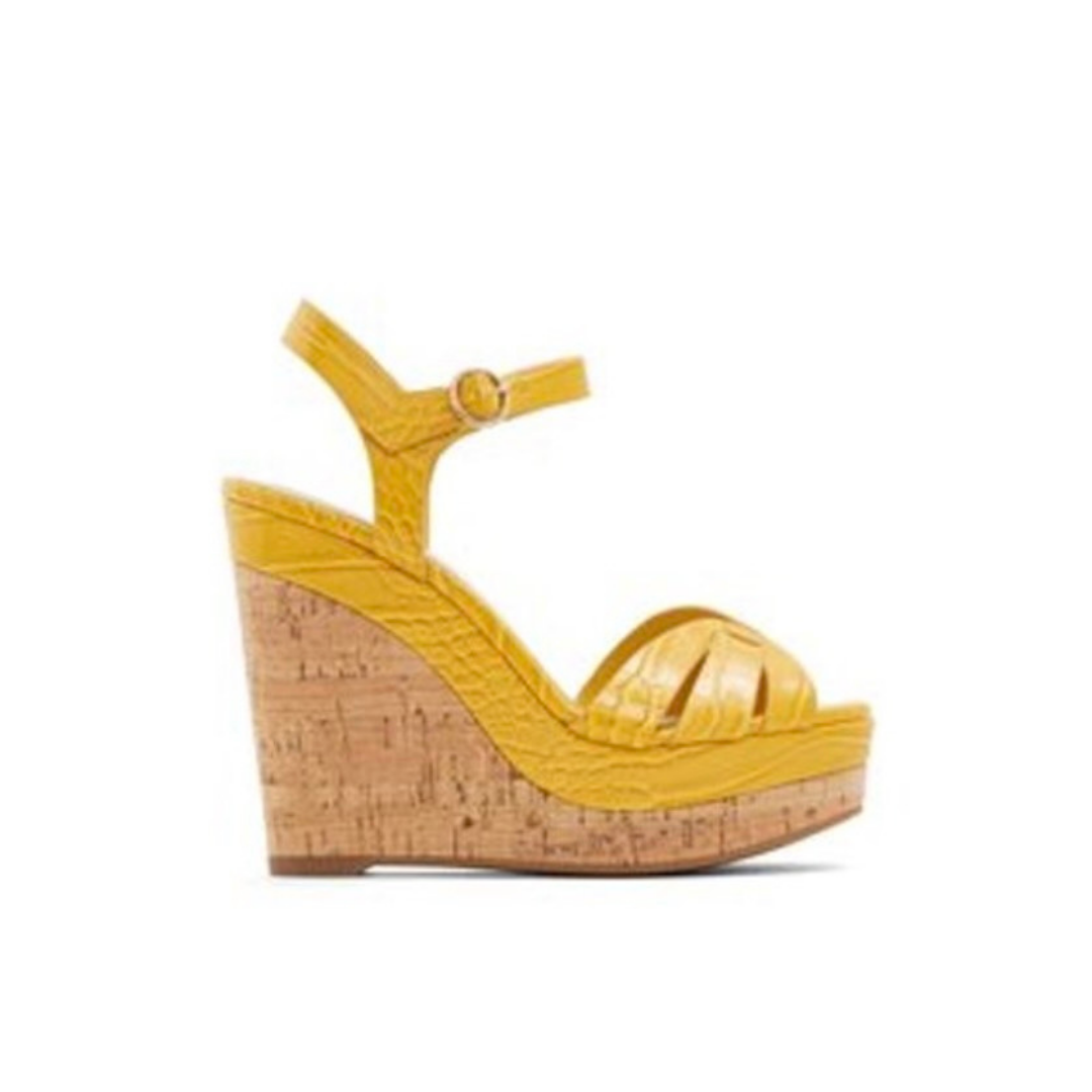 Yellow strapped wedge from Aldo