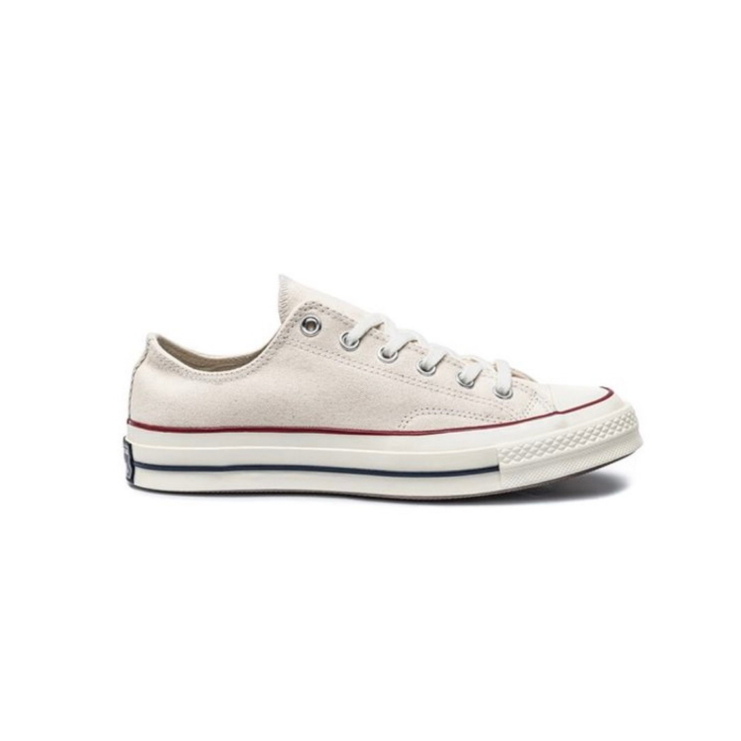 White lace and red stripe shoe from Journeys