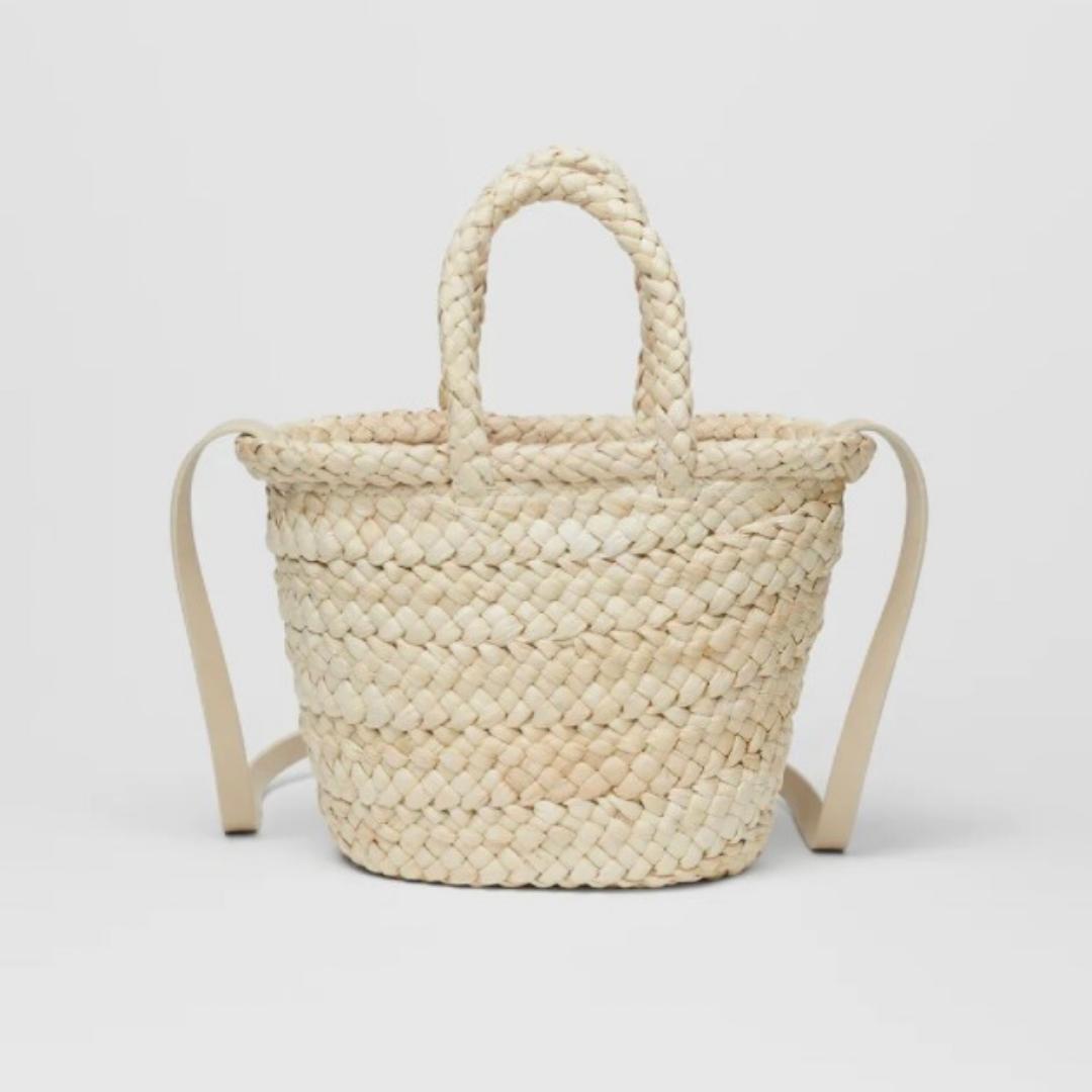 Basket weave bag from Zara