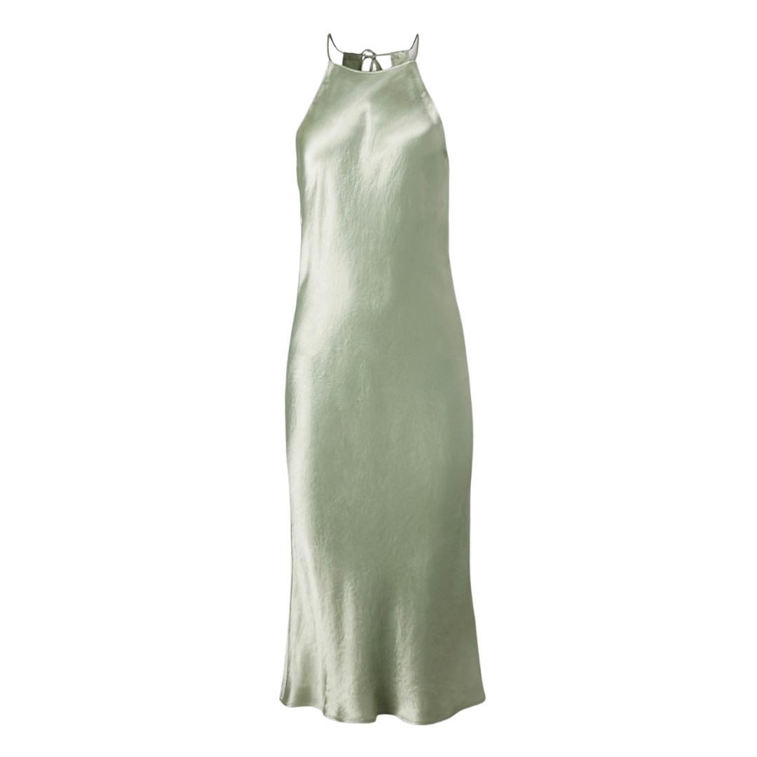 Sage green sleeveless dress from Aritzia