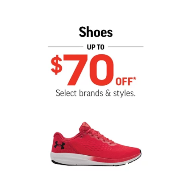 under armour red running shoe