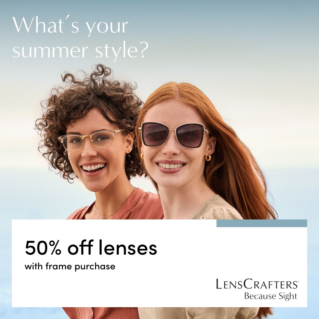 Whats your summer style? two women wearing sunglasses and prescription glasses