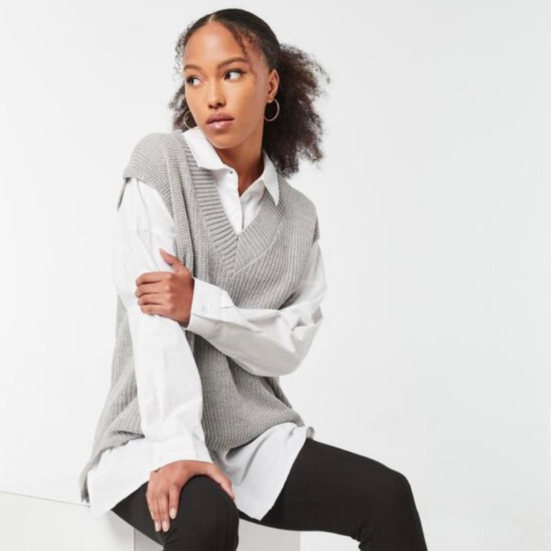 Chunky grey sweater from Ardene