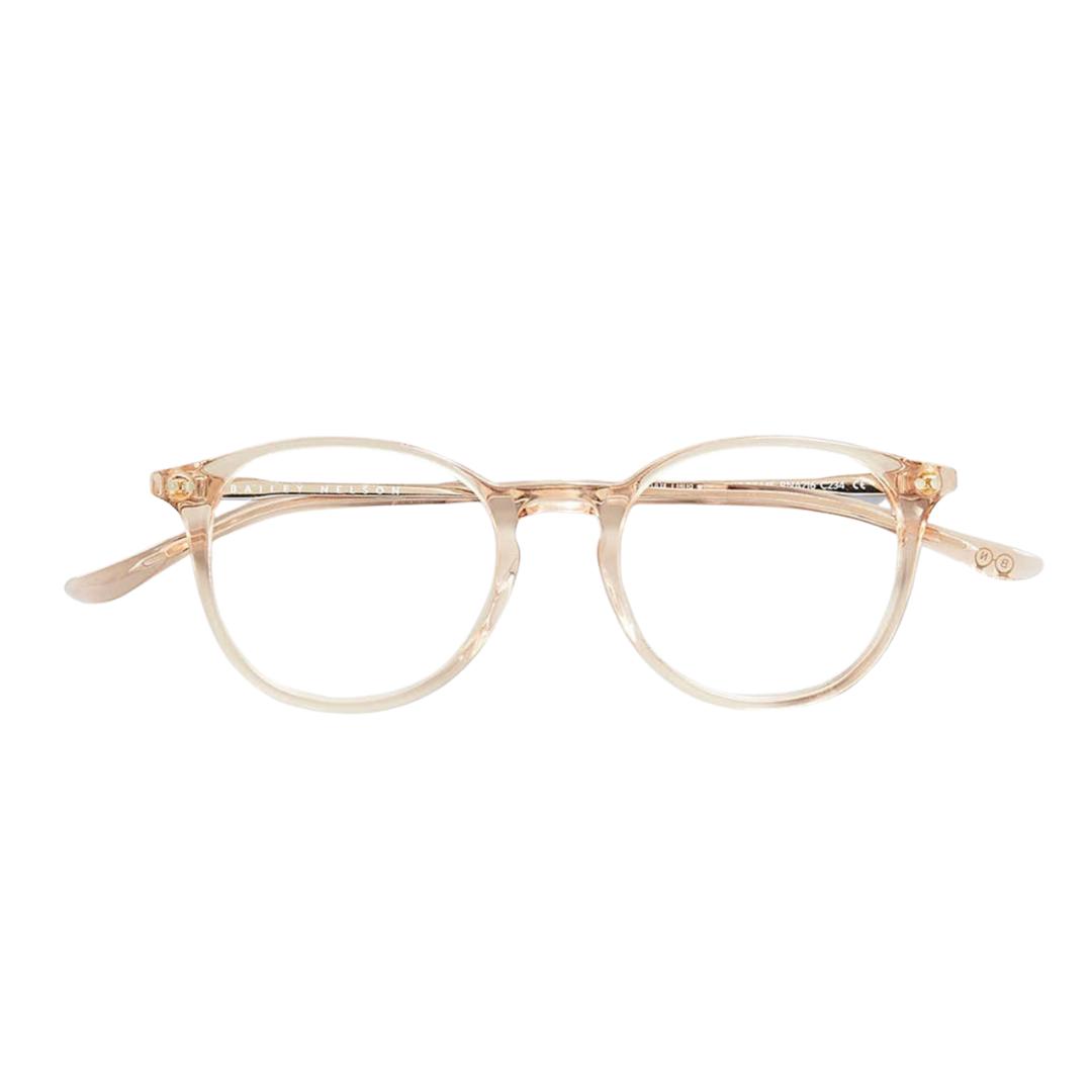 Cream coloured blue light filtered glasses from Bailey Nelson