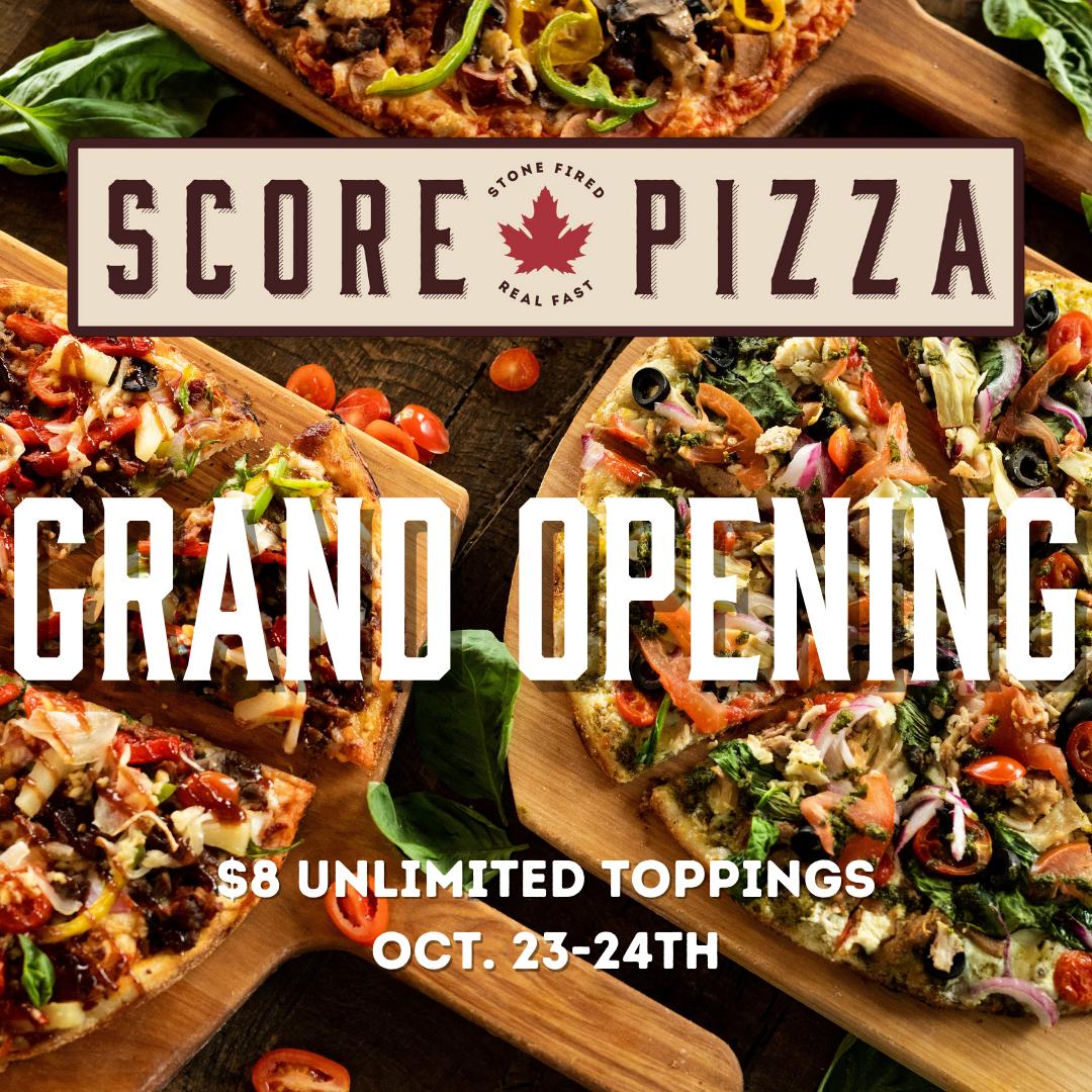 score pizza grand opening