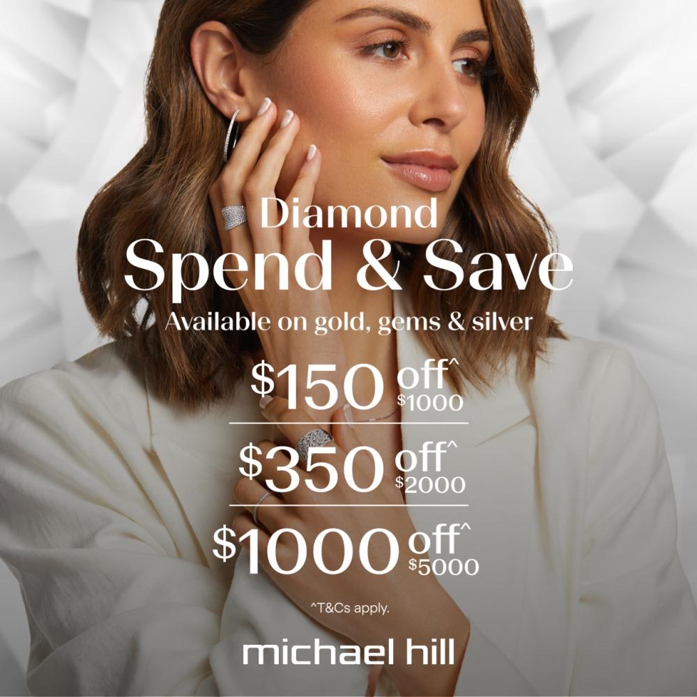 woman wearing michael hill jewellery
