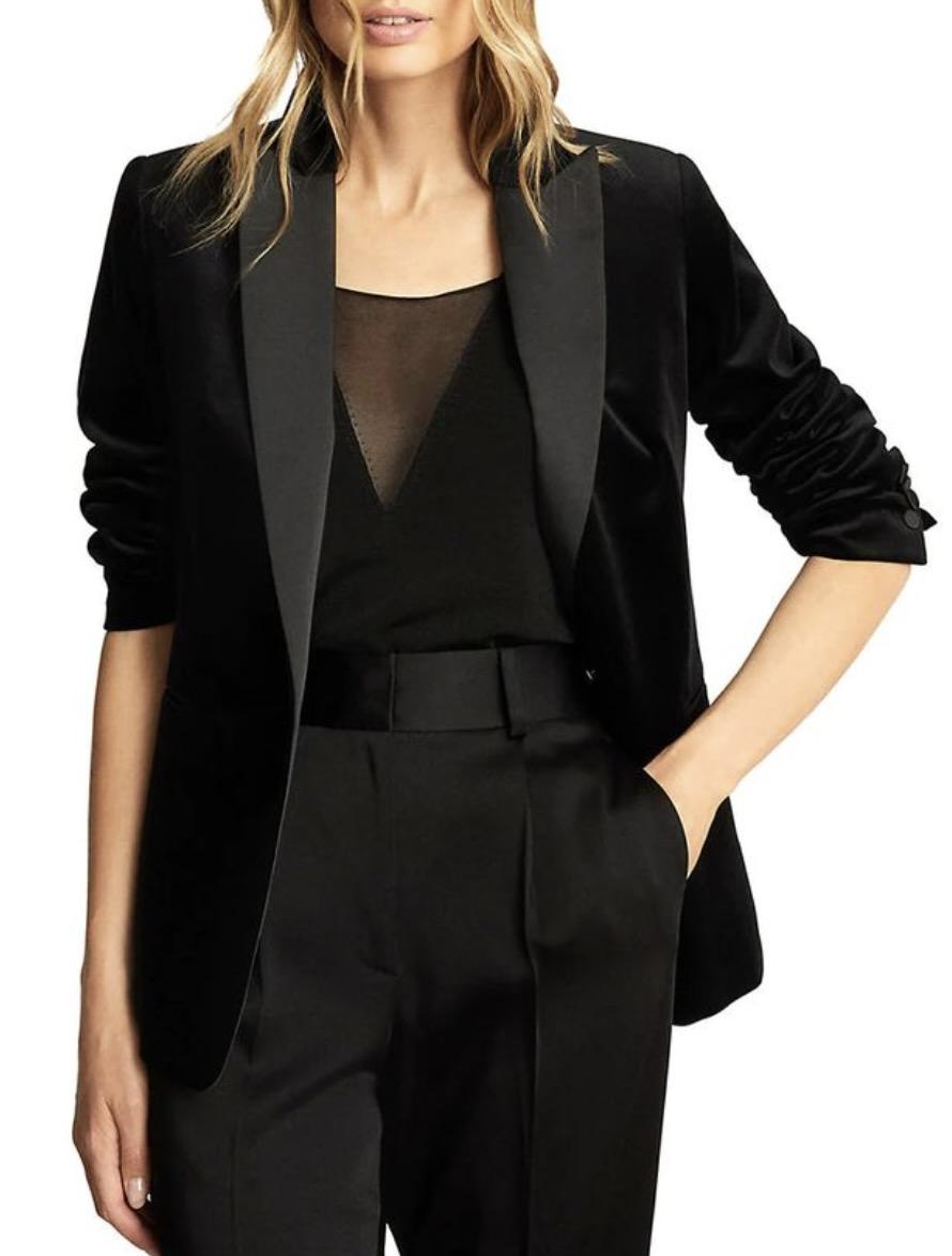 Black velvet blazer from Hudson's Bay
