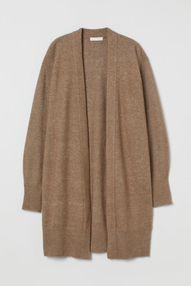 Dark beige cardigan from H&M