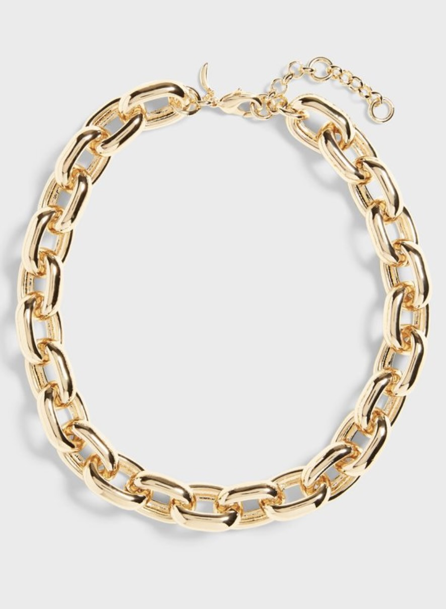 Gold chunky chain necklace from Banana Republic