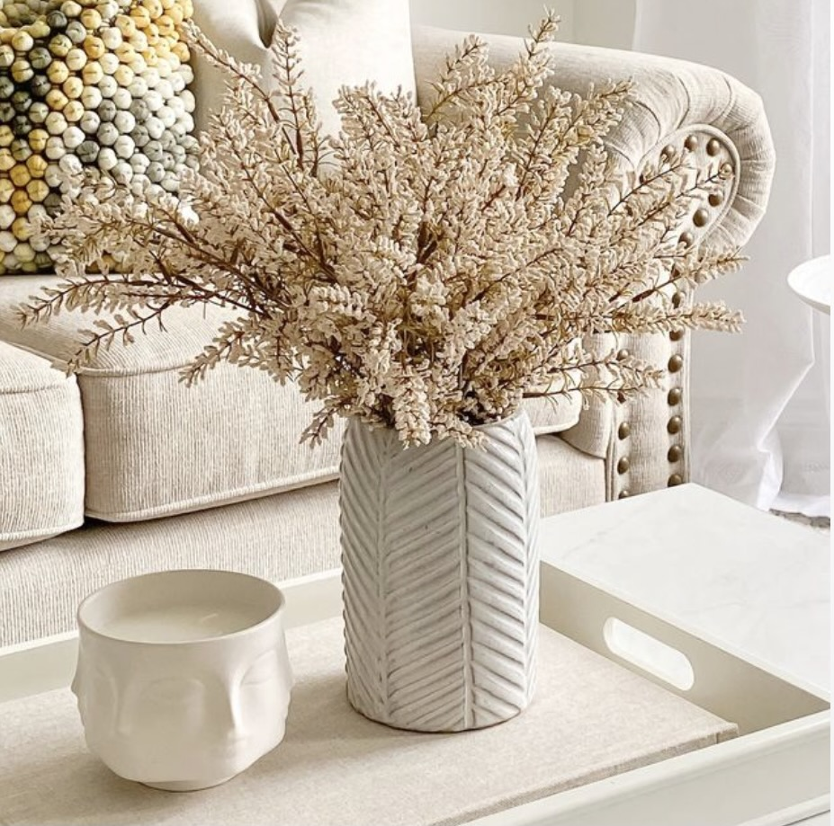 Herringbone vase collection from Linen Chest