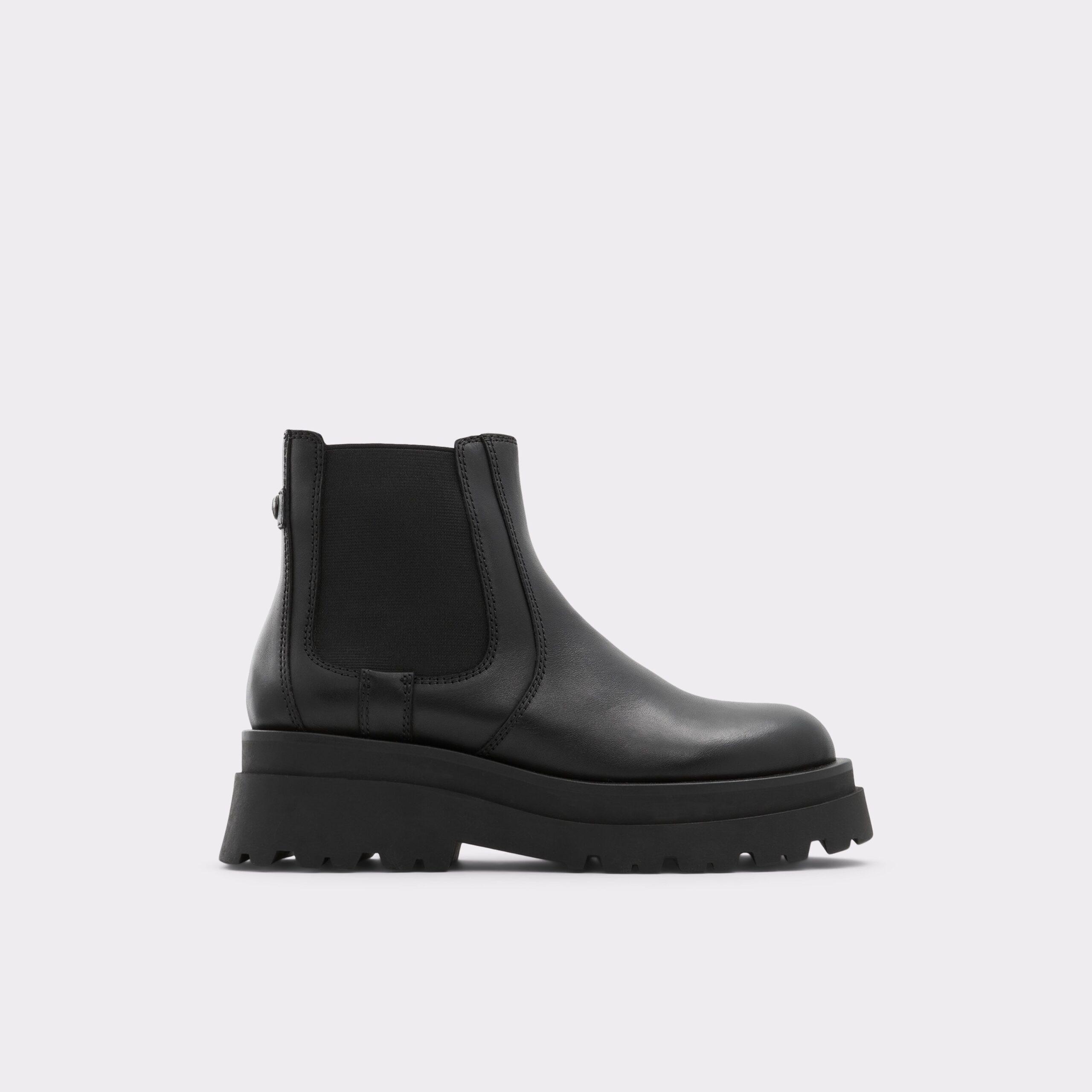 Black Ankle Block Heel Boots from Aldo