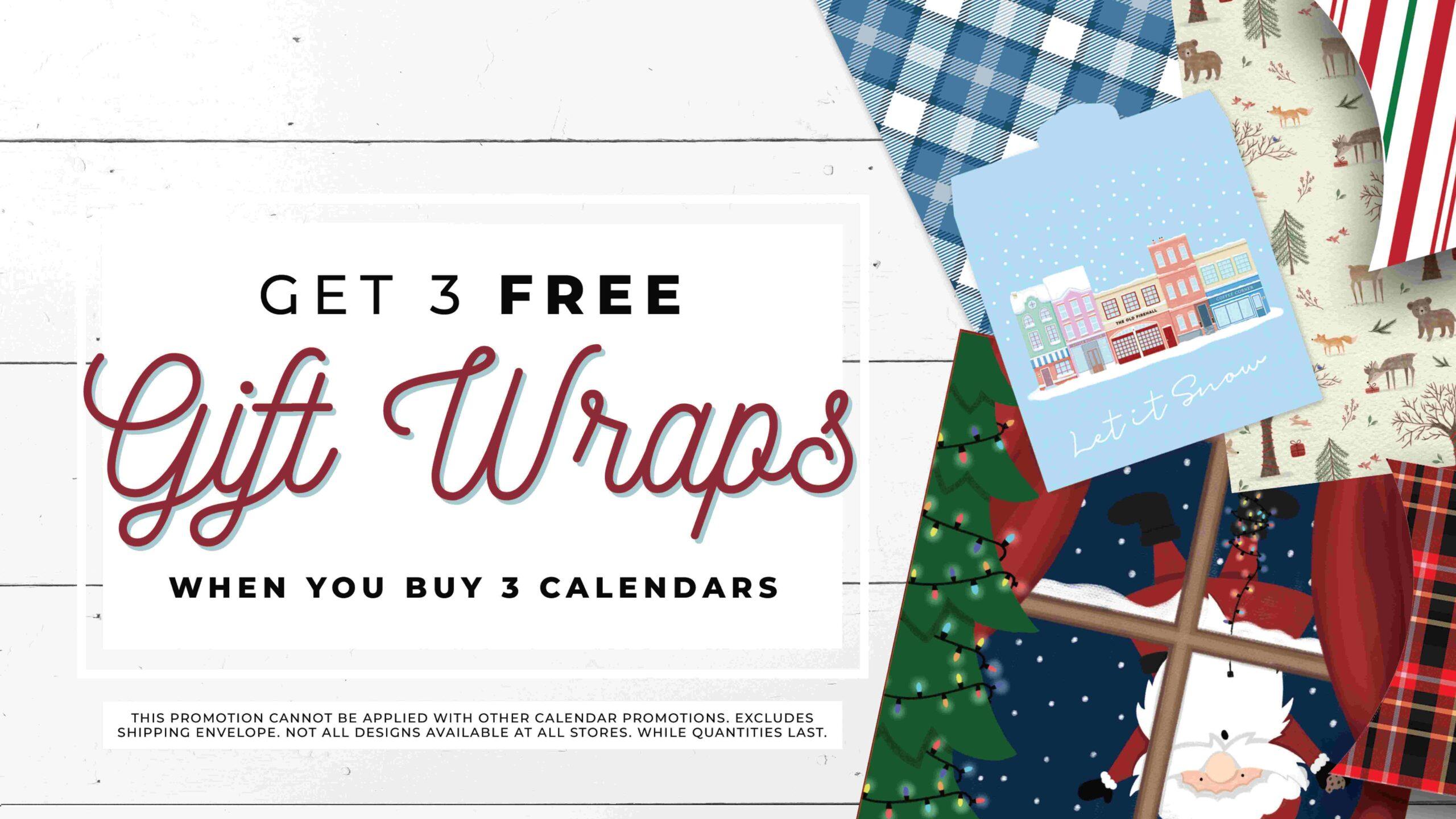 gift wrap at Calendar club